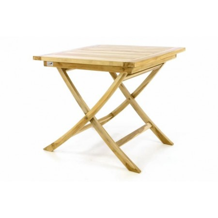 Menší dřevěný skládací stolek, venkovní / vnitřní, 80x80 cm