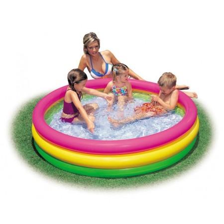 Barevný dětský nafukovací bazének, průměr 114 cm