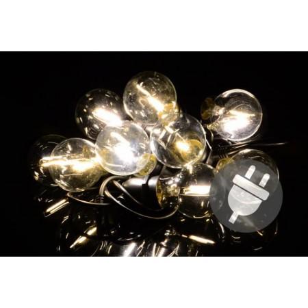 Venkovní párty osvětlení- řetěz ze skleněných žárovek, 5 m