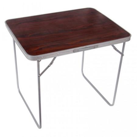 Kempinkový skládací stolek v kufříku, dřevěný vzhled, 80x60 cm