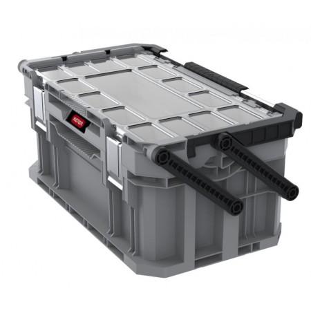 Plastový box na nářadí do garáže / dílny, šedý, 32x25x56,5 cm