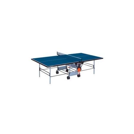 Pingpongový stůl venkovní, na kolečkách, skládací, modrý