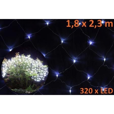 Vánoční světelný závěs venkovní / vnitřní, studená bílá, 1,8 x 2,3 m