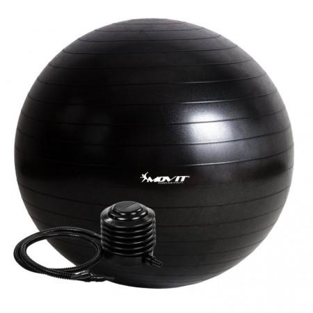 Velký nafukovací míč pro cvičení a fyzioterapie, vč. pumpy, černý, 85 cm