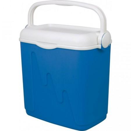 Cestovní chladnička s madlem pro přenos, modrá, 20 L