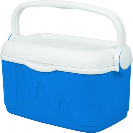 Cestovní chladnička s madlem pro přenos, modrá, 10 L