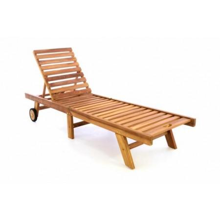Luxusní lehátko na zahradu, teakové dřevo, sklopné
