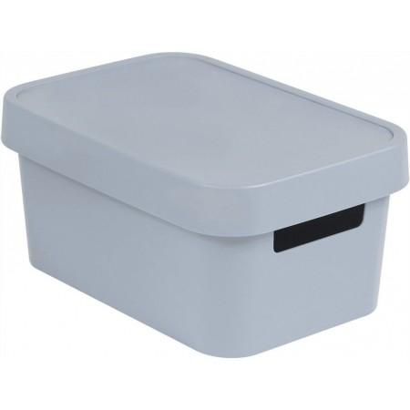 Plastová krabice pro uložení věcí v domácnosti, šedá, 4,5 L