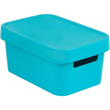 Plastová krabice pro uložení věcí v domácnosti, modrá, 4,5 L