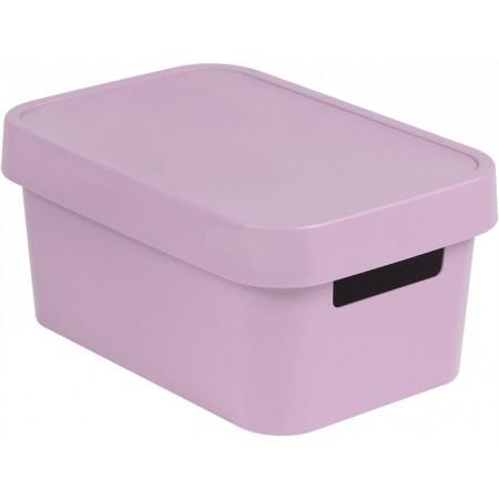 Plastová krabice pro uložení věcí v domácnosti, růžová, 4,5 L