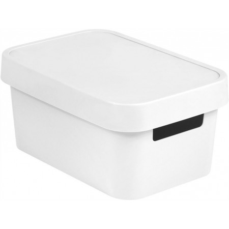 Plastová krabice pro uložení věcí v domácnosti, bílá, 4,5 L