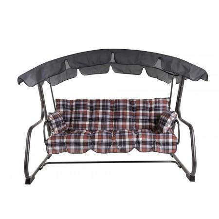 Luxusní venkovní houpačka s kovovou kostrou, rozložitelná, 209 cm