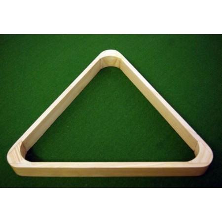Dřevěný lakovaný trojúhelník ke kulečníku