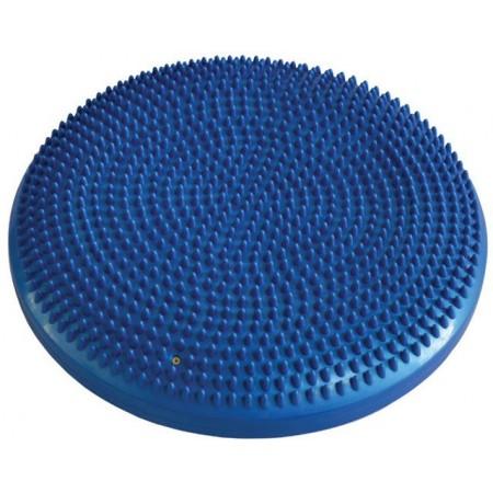 Kulatý masážní polštářek na sezení, nafukovací, průměr 33 cm, modrý