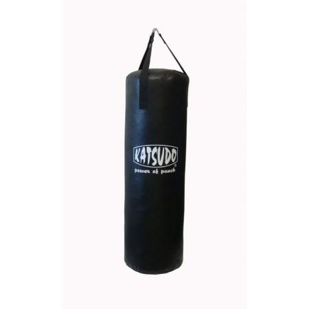 Větší boxovací pytel, látková střiž, 15 kg, černý, 80 cm