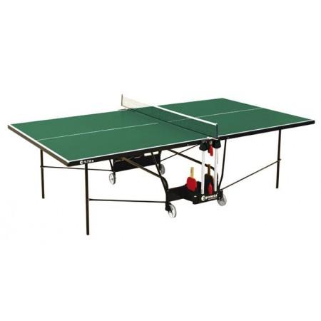 Skládací venkovní stůl na stolní tenis, na kolečkách, zelený, 274x152,5 cm