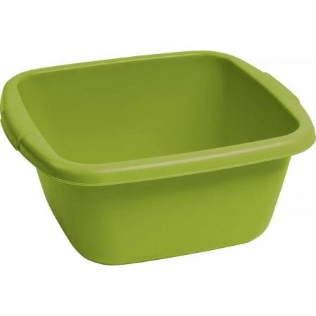 Plastový lavor zelený, 35x35 cm, 14 litrů