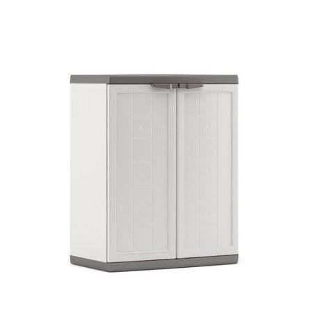 Menší plastová zahradní skříňka uzamykatelná, 85x68x39 cm