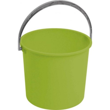 Větší plastový kyblík bez víka, zelený, 16 litrů