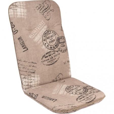 Měkký podsedák na židli / křeslo, vysoká opěrka, světle hnědá, 116x50 cm
