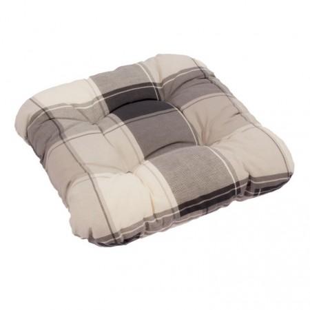 Extra měkký, pohodlný podsedák na židli / křeslo, šedá kostka