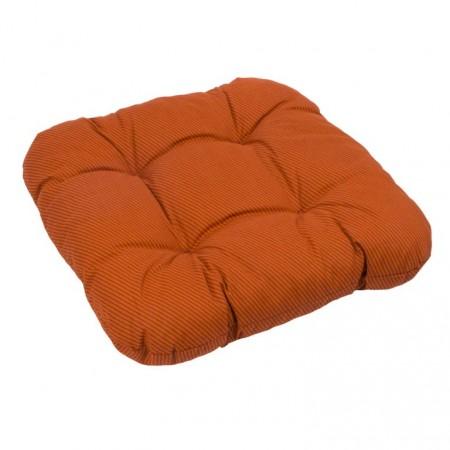 Extra měkký, pohodlný podsedák na židli / křeslo, terakota + proužky
