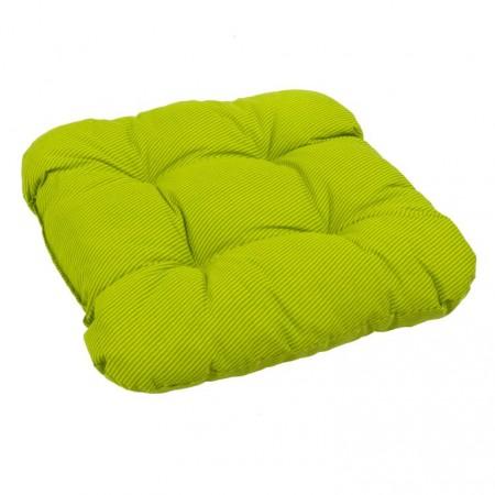 Extra měkký, pohodlný podsedák na židli / křeslo, zelená + proužky