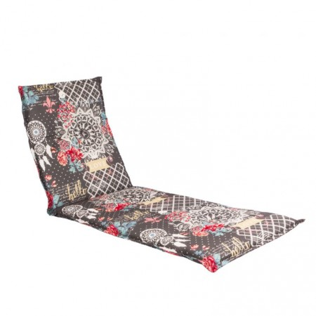 Barevné polstrování pro lehátka, abstraktní vzor + květiny, 190x60 cm