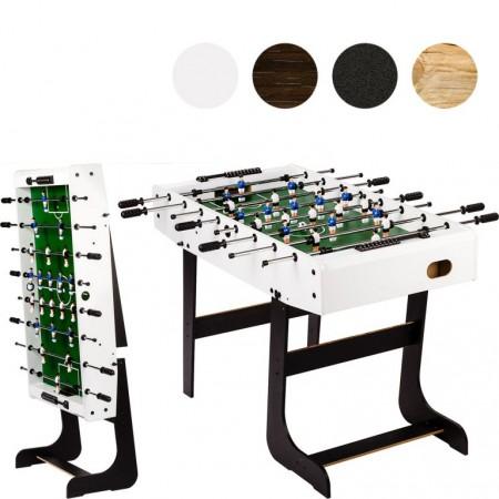 Dětský stolní fotbal se skládacím mechanismem bílý, 121x101x79 cm