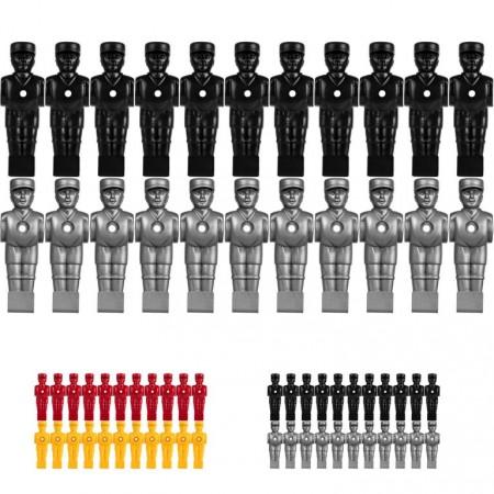 Náhradní figurky hráčů pro stolní fotbálek, ABS plast, 11,3 cm, 22 ks