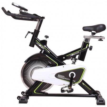 Odpružený domácí cyklotrenažer / spinningové kolo, computer, nosnost 120 kg