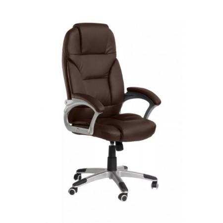 Luxusní kancelářské otočné křeslo, eko kůže, tmavě hnědé