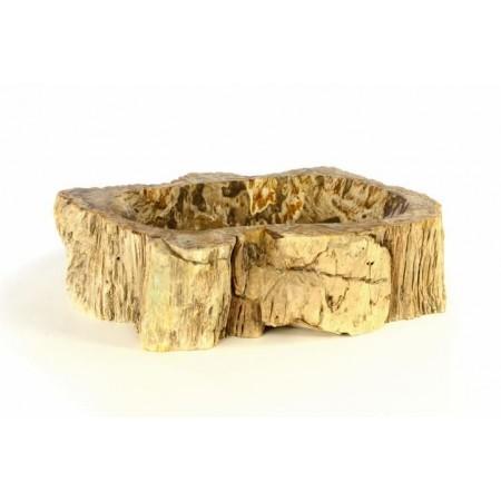 Designové umyvadlo na desku- zkamenělý kmen stromu, nepravidelný tvar