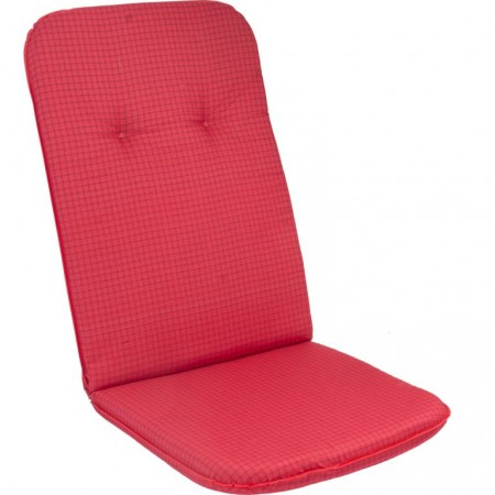 Podsedák na křeslo / židli, vysoká opěrka, červená, 116x50 cm