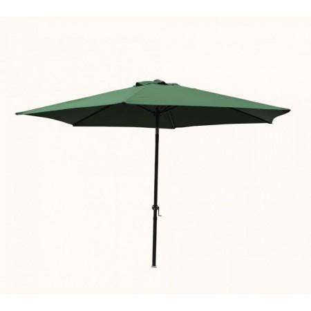 Nakláněcí zahradní slunečník s kloubem, kulatý, tmavě zelený, 3 m