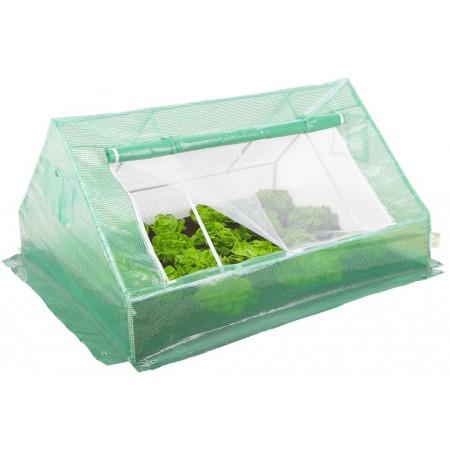 Menší zahradní fóliovník s vyztuženou fólií, kovový rám, zelený, 180x140 cm