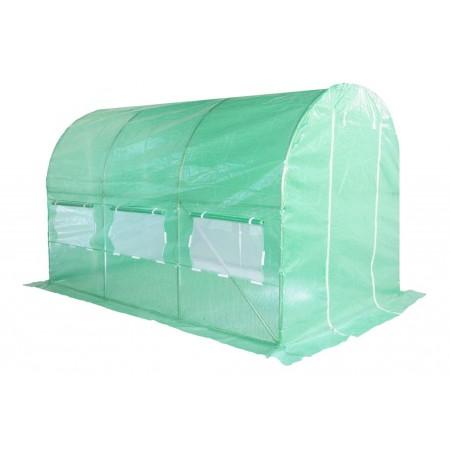 Obloukový zahradní fóliovník, vyztužená fólie, zelený, 3,5x2 m