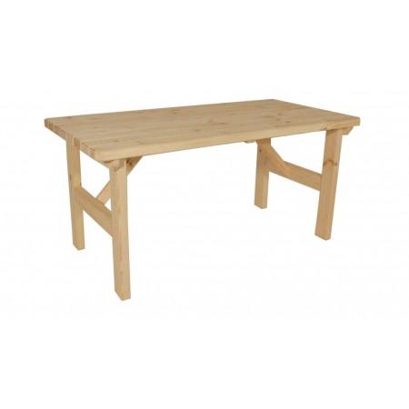 Bytelný zahradní stůl z masivu obdélníkový, nelakovaný, 160 cm