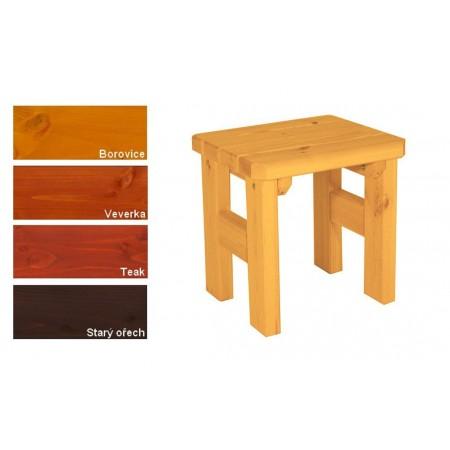 Pevná zahradní stolička z masivu, lakovaná, 4 odstíny, 47 cm
