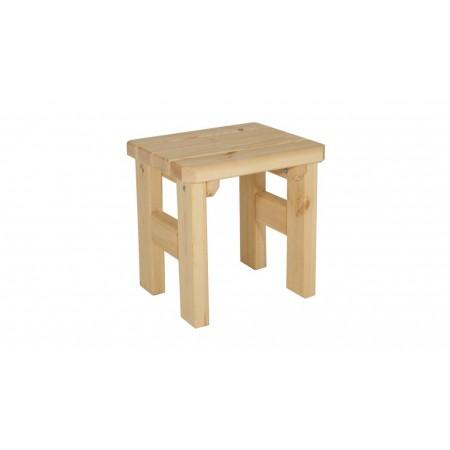 Pevná zahradní stolička z masivu, nelakovaná, 47 cm