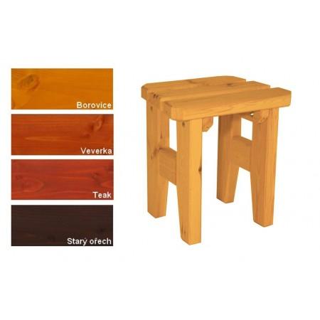 Venkovní dřevěná stolička z masivu, lakovaná- 4 odstíny, 47 cm