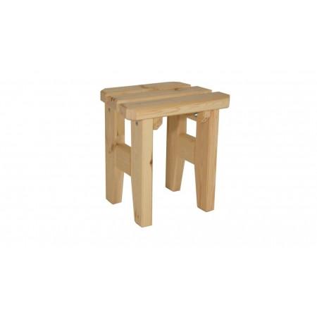 Bytelná zahradní stolička z masivního dřeva, nelakovaná, 47 cm