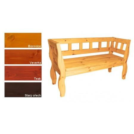 Ozdobná rustikální lavice zahrada / interiér, lakovaná- 4 odstíny, 157 cm