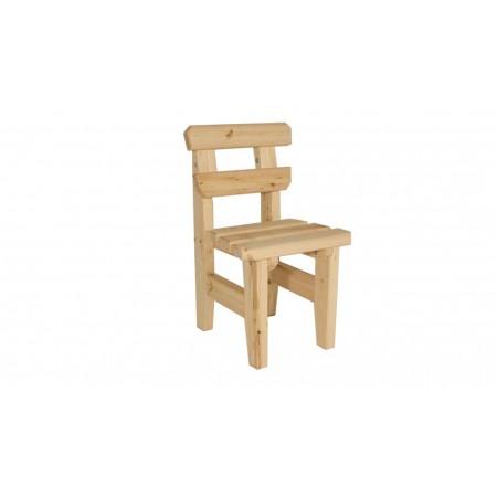 Pevná zahradní židle bez područek z masivního dřeva, nelakovaná
