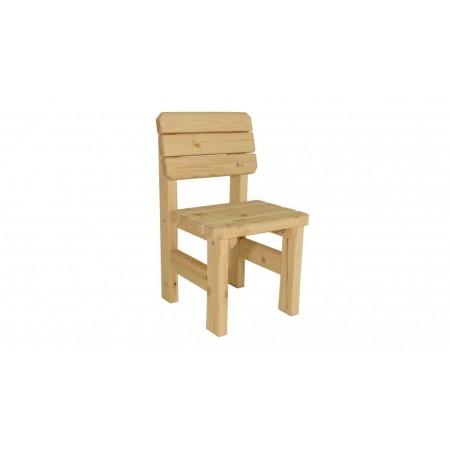 Pevná dřevěná venkovní židle z masivního dřeva, nelakovaná