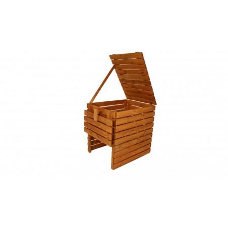 Bytelný pevný kompostér z masivního dřeva, povrchově upraveno, 800 L