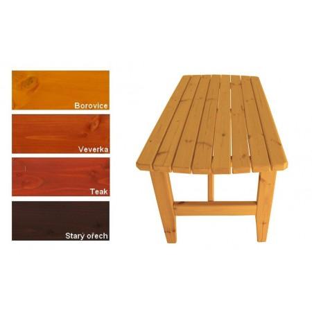 Pevný zahradní masivní stůl dřevěný, lakovaný- 4 odstíny, 160 cm