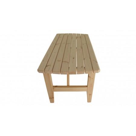 Venkovní stůl obdélníkový z masivního dřeva, nelakovaný, 160 cm