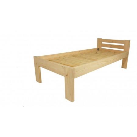 Masivní dřevěná postel s roštem, čirý lak, 200x80 cm