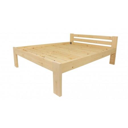 Masivní dřevěná postel s roštem, čirý lak, 200x160 cm